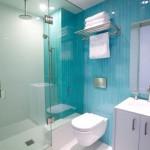 13-baie alba cu turcoaz faianta ingusta montata pe verticala