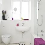 13-baie moderna alba mica accente cromatice mov