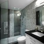 13-baie moderna mozaic gri in degrade combinat cu faianta si gresie gri