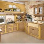 13-bucatarie rustica traditionala mobila inzidita perete placat cu piatra naturala