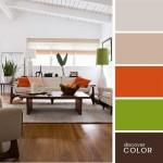 13-decor modern minimalist combinatii culori vede deschis si portocaliu