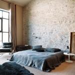 13-dormitor matrimonial perete piatra naturala casa veche provence franta