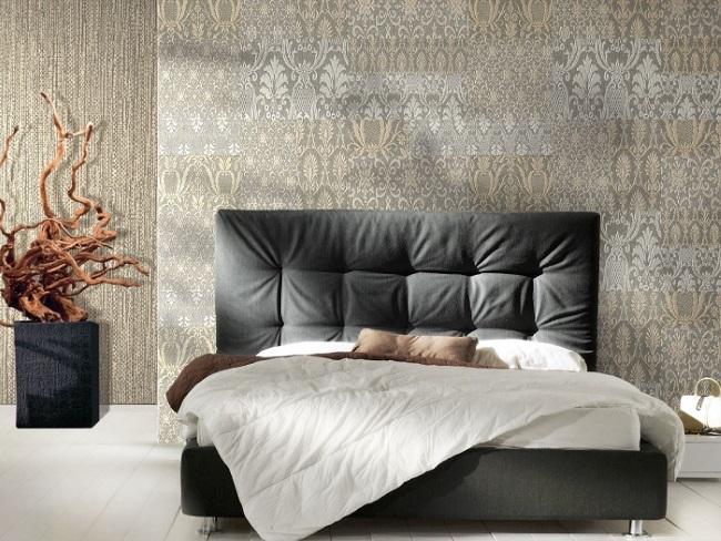 13-dormitor modern decorat cu doua modele sde tapet decorativ