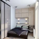 13-dulapuri montate pe perete in decorul unui dormitor mic