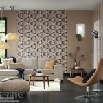 13-folosire tapet decorativ cu imprimeu decor living modern