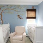 13-idei amenajare camera bebe gemeni in bleu si alb