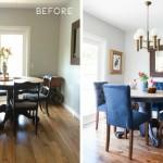 13-imagini cu dining open space inainte si dupa reamenajare