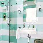 13-imprimeu in dungi orizontale decor pereti baie moderna