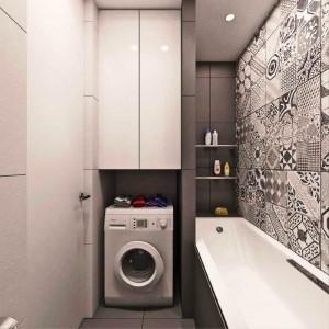 13-integrare masina de spalat in nisa langa cada din baie