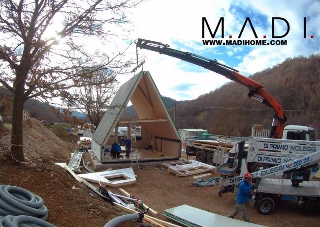 13-livrarea si asamblarea unui modul de casa ecologica MADI Home Italia