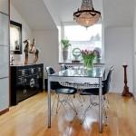 13-loc luat masa apartament stil scandinav mansarda