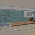 13-mobila bucatarie perete placat cu mozaic sugestie amenajare
