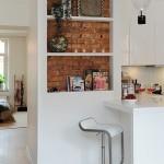 13-nisa perete placata cu caramida nefinisata decor interior in stil scandinav