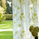 13-perdea crem cu imprimeu floral vernil decor de vara pentru fereastra
