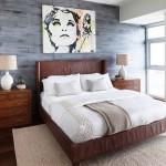 13-perete de accent placat cu parchet in nuante de gri decor dormitor mic