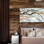 13-perete decorat cu dusumea lemn dormitor modern accente rustice