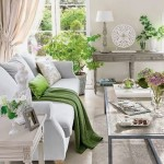 13-plante si accente de culoare verde decor living alb clasic