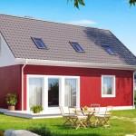 13-proiect nou casa mica cu mansarda vedere spate