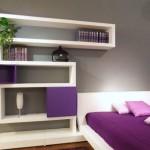 13-rafturi decorative perete deasupra patului dormitor modern