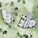 13-schita plan compartimentare si amplasament casa din piatra si lemn Peru