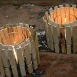 13-suport rustic pentru lumanari din cutii de conserve si clesti de rufe