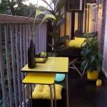 14-amenajare in negru si gri balcon mic de apartament