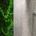 14-asortare perete finisaj in relief cu plante verzi plantate pe verticala