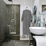 14-baie in alb si negru stil scandinav garsoniera de 42 mp
