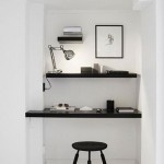 14-birou minimalist amenajat in nisa perete apartament