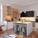 14-bucatarie open space separata de living prin intermediul unei insule bar