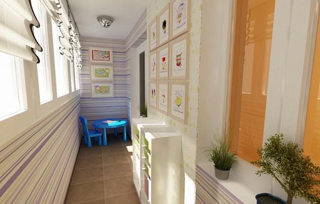 14-camera de joaca pentru copii amenajata in balcon