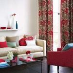 14-draperii asrtate cu fotoliile si pernutele decorative de pe canapea