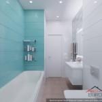14-faianta bleu aspect valuri finisare perete cada baie moderna apartament 2 camere