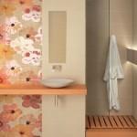 14-faianta imprimeu floarl decor baie moderna