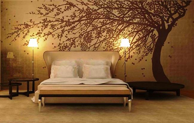 14-foto tapet decorativ perete dormitor copac batut de vant