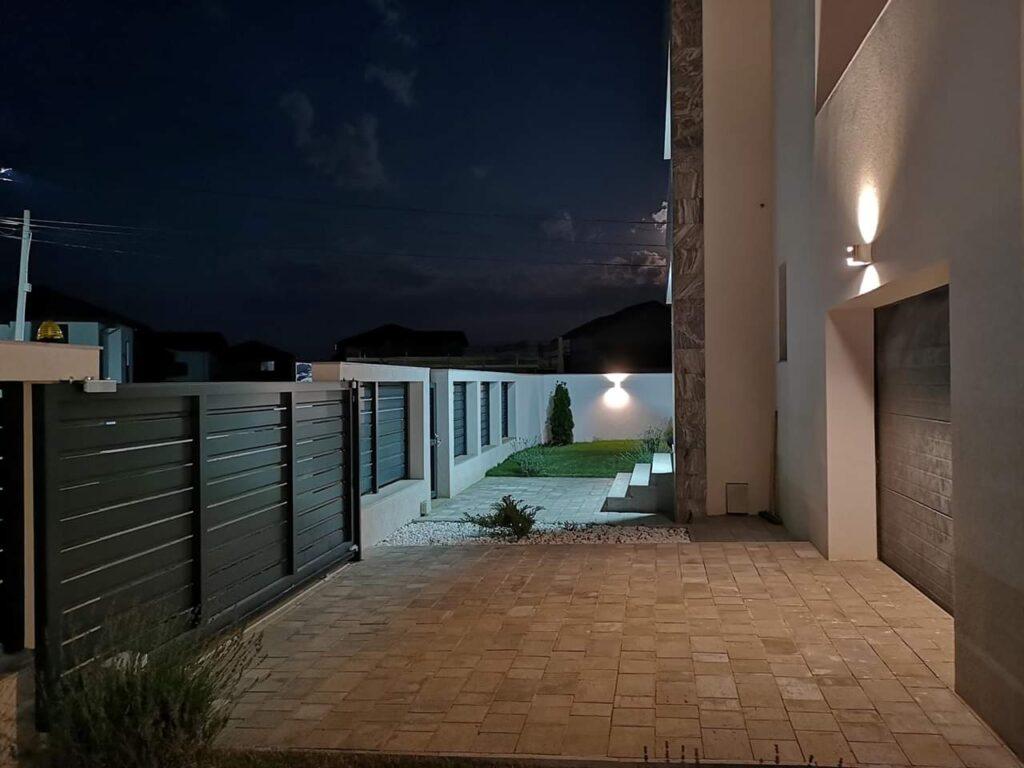 iluminat nocturn curte FIM Spring Residence Paulesti PH