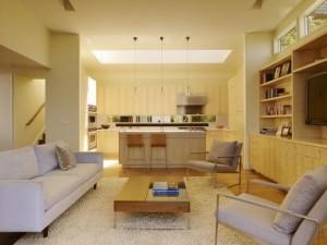 14-living si bucatarie moderne amenajare tip open space