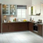 14-mobila pe colt culoare wenge bucatarie moderna