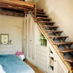 14-model scara interioara lemn casa mica cu mansarda