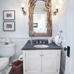 14-oglinda in rama din lemn lucrata manual decor baie