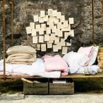 14-pat suspendat confectionat din scanduri si sfoara montat in exteriorul casei