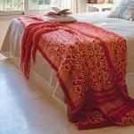 14-patura imprimeu traditional pat matrimonial dormitor stil clasic