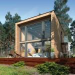 14-proiect modern casa de vis cu ferestre mari pe tot peretele