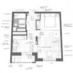 14-schita plan garsoniera 45 mp transformata in apartament cu doua camere
