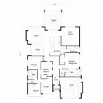14-schita plan proiect casa 4 dormitoare doar parter
