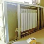 14-structura metalica pentru carcasa din gips carton construita in jurul caloriferului