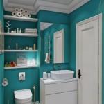 14-wc suspendat perete mobilier alb baie mica turcoaz