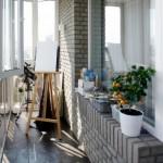 15-amenajarea unui mic atelier de pictura intr-un balcon ingust de apartament