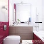 15-baie mica moderna decorata in alb rosu si bej
