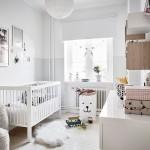 15-camera bebelus apartament cu 3 camere scandinav decorat in alb